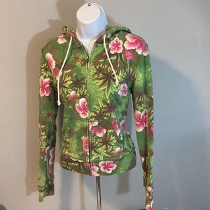 Lucky Brand Floral Hoodie L